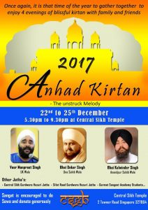 Anhad Kirtan @ Central Sikh Temple, Singapore